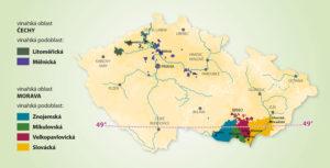 Vinařské oblasti a podoblasti České republiky